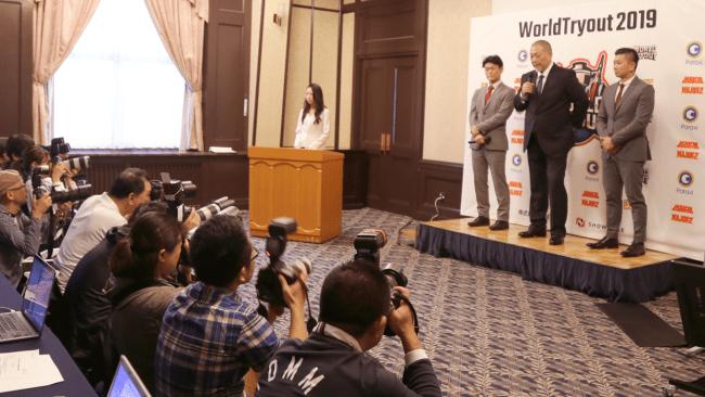 清原 和博氏が監督就任したWorldTryout2019のイベントをショーケースがWorldTryout社と共同運営