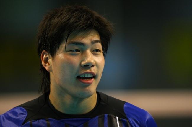 デビューとなる2009-10シーズンの清水選手(対サントリー3位決定戦)