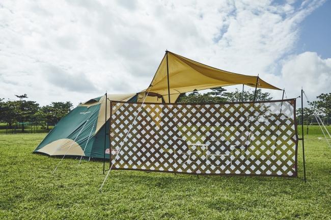 開放的なフィールドで快適度アップ!コールマン、ヴィンテージライクな防風&ブラインド機能搭載のウォールを新発売