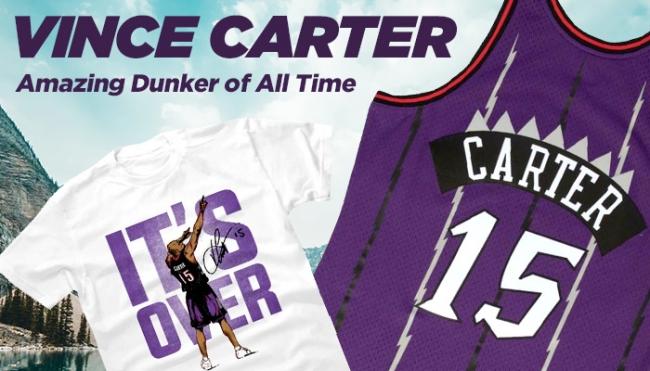 伝説のダンクの数々!NBA ヴィンス・カーターのグッズが新入荷!今季限りで引退が濃厚な現役最年長レジェンド