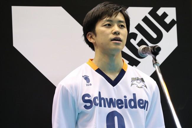 VOMを獲得したアドラーズ・池田選手(VC長野)