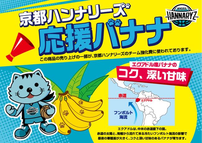 【京都ハンナリーズ】「京都ハンナリーズ応援バナナ」販売開始のお知らせ