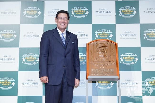 田淵幸一氏(2020年野球殿堂入り表彰式にて)
