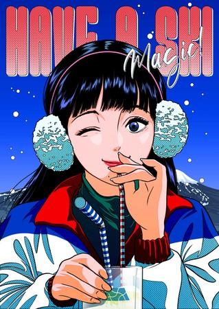 【木曽福島スキー場】韓国の人気イラストレーターtree13によるメインビジュアルを公開。コラボレーショングッズも販売決定!