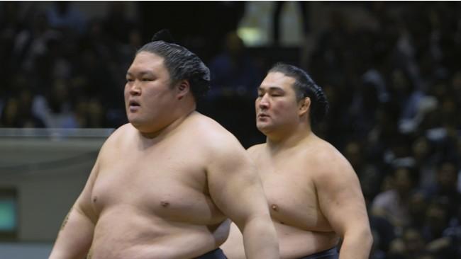 豪栄道関と竜電関 © 2020「相撲道~サムライを継ぐ者たち~」製作委員会