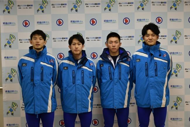 【左より】一戸選手、遠藤(龍)選手、高田選手、石川選手