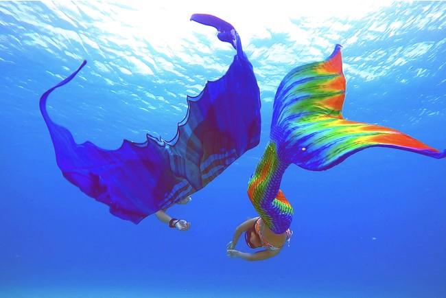 【奄美大島発】GWや夏休みに向けた休暇計画に!人魚になって泳げるダイビング「マーメイドスイム」が6月末からスタート