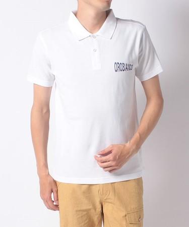鹿の子ベーシック半袖ポロシャツ(ホワイト)