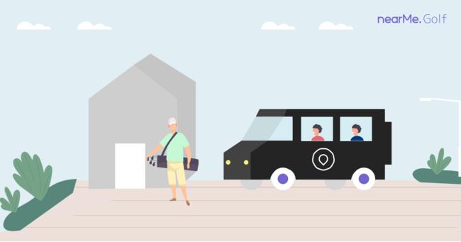 """独自のAIで、スマートシャトル™を運用中のNearMe、""""ゴルフ場送迎シャトル""""を拡大ローンチ"""