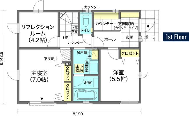間取り図(1階)