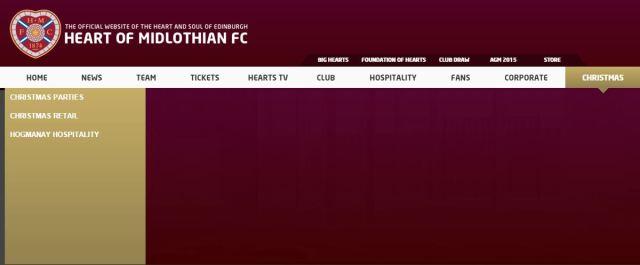 Hearts' homepage