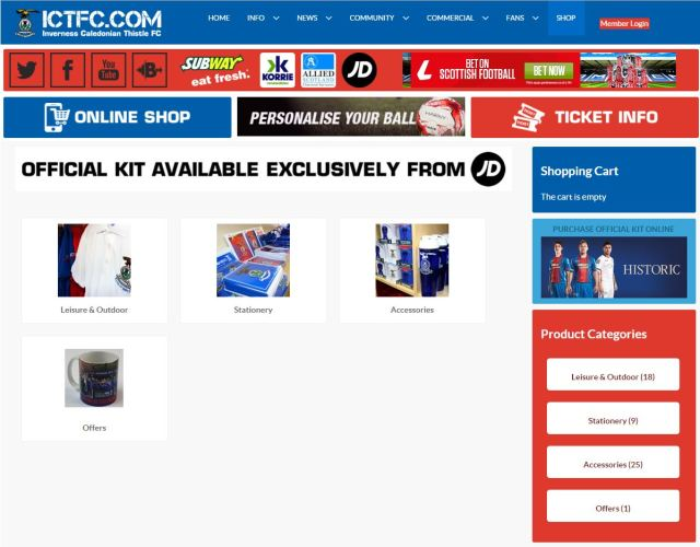 Inverness Online Store