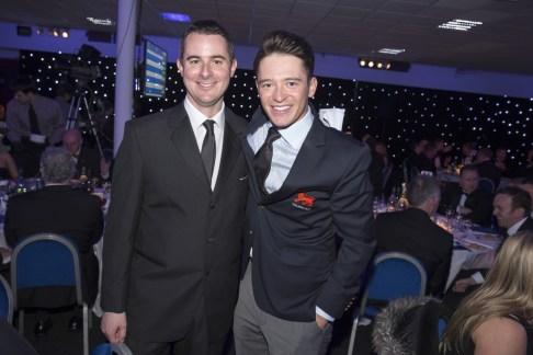 Ed with top Scottish amateur golfer, Ewen Ferguson