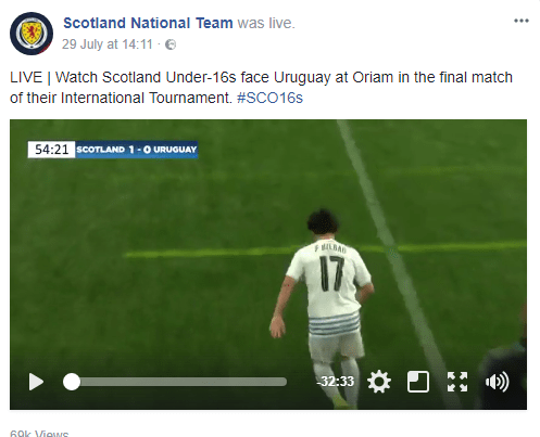 The Scottish National Team streamed their U-16 Tournament this summer