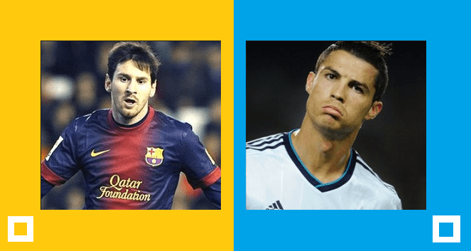 Yellow for Messi - Blue for Ronaldo (Statistics)