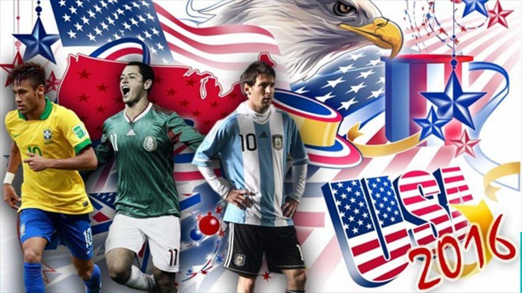 Copa America Centenario 2016 Wallpaper with Messi & Neymar