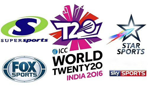 ICC T20 world cup 2016 Broadcaster