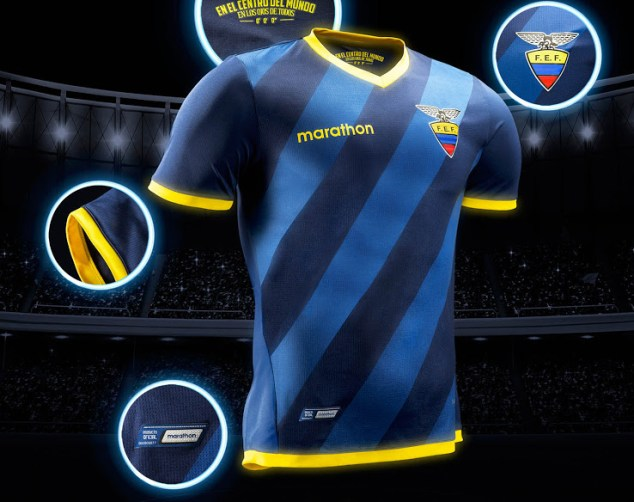 Equador Away Kit for Copa America 2016