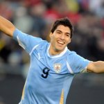 Uruguay forward Suarez touch the milestone of 50 goals for national team