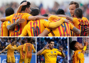 """U"" turn of Barca by 8 – 0 win over Deportivo (Suarez made 4 himself)"