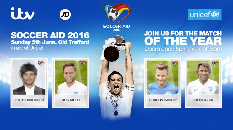 Unicef soccer aid 2016