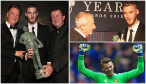 Man Utd goalkeeper David De Gea won crowned united Sir Matt Busby player of the year for third season in a row