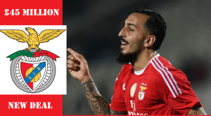 Greek forward Mitroglou signed for £45m new contract with Benfica