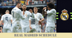 Real Madrid Fixtures of 2016-17 Season before Friendlies (USA tour for ICC)