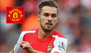 Manchester united frame-up to pull Arsenal Welsh Midfielder Aaron Ramsey for £50 million bid