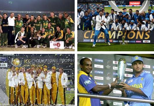 Champions trophy winners