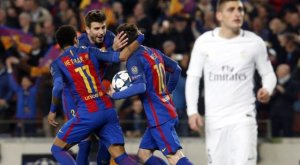 Barcelona creates history to go through to the next round