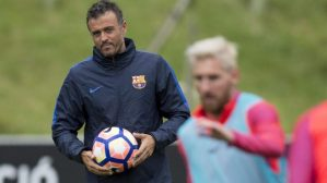 Barcelona manager Luis Enrique is glad after Messi reaches landmark