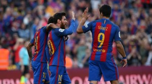 MSN hit the target to send Barcelona at the top