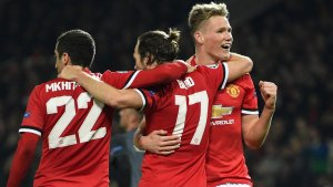 Manchester United players dominate in the team of the season