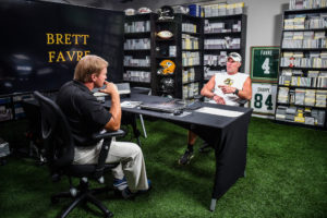 Tampa, FL - June 28, 2016 - Jon Gruden and Brett Favre during a 2016 Gruden Camp segment. (Photo by Heather Harvey / ESPN Images)