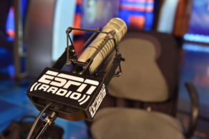 Bristol, CT - October 26, 2015 - Studio E: Microphone on the set of Mike & Mike (Photo by Nick Caito / ESPN Images)