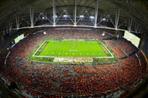 Glendale, AZ - January 11, 2016 - University of Phoenix Stadium overhead during the 2016 CFP National Championship game (Photo by Phil Ellsworth / ESPN Images)