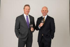 Bristol, CT - May 17, 2016 - Photo Studio: Portrait of Jon Gruden and Sean McDonough (Photo by Joe Faraoni/ ESPN Images)