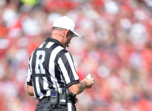 Fayetteville, AR - October 12, 2013 - Razorback Stadium: A referee during a regular season SEC game (Photo by Scott Clarke / ESPN Images)