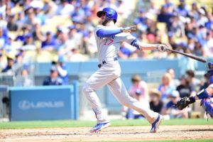 Los Angeles, CA - August 27, 2016 - Dodger Stadium: Kris Bryant (17) of the Chicago Cubs during a regular season game (Photo by Scott Clarke / ESPN Images)