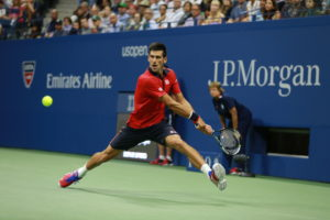 Queens, NY - September 6, 2015 - USTA Billie Jean King National Tennis Center: Novak Djokovic competing in the 135th staging of the US Open (Photo by Allen Kee / ESPN Images)