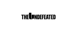 The Undefeated B&W Positive Horizontal Small Logo