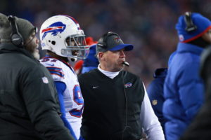Foxborough, MA - November 23, 2015 - Gillette Stadium: Rex Ryan coach of the Buffalo Bills during a regular season Monday Night Football game (Photo by Allen Kee / ESPN Images)