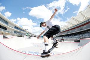 Austin, TX - June 2, 2016 - Circuit of The Americas: Tom Schaar competing in Toyota Skateboard Park Men's during X Games Austin 2016 (Eddie Perlas / ESPN Images)