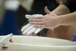gymnastics hands (Photo by Scott Clarke / ESPN) - Gymnastics153.jpg -