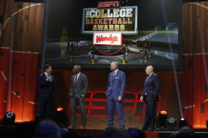 Los Angeles, CA - April 7, 2017 - The Novo by Microsoft: Rece Davis, Jay Williams, Jay Bilas and Seth Greenberg during the 2017 College Basketball Awards (Photo by Eddie Perlas / ESPN Images)