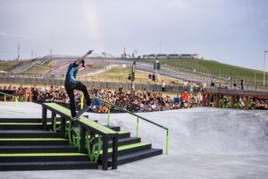 Alec Majerus during Skate Street Finals at 2016 X Games Austin in Austin, TX. Chris Tedesco/ESPN
