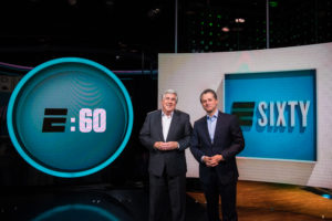 Bristol, CT - May 3, 2017 - Studio Z: Portrait of Bob Ley and Jeremy Schaap on the set of E:60 (Photo by Joe Faraoni / ESPN Images)