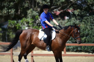Los Angeles, CA - July 28, 2015 - Griffith Park: Jason Kin Chun of Great Britain participating in Equestrian during the 2015 Special Olympics World Summer Games (Photo by Phil Ellsworth / ESPN Images)