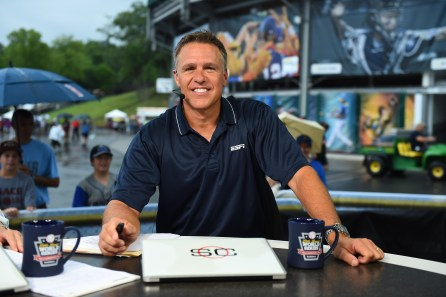 South Williamsport, PA - August 20, 2015 - Little League International Complex: Jay Crawford on the on-site set of SportsCenter at the Little League World Series (Photo by Joe Faraoni / ESPN Images)